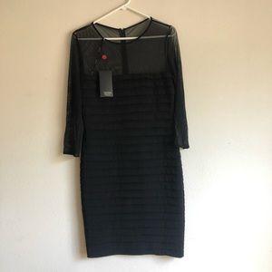 NWT Tadashi Collection Illusion/Mesh Bodycon Dress